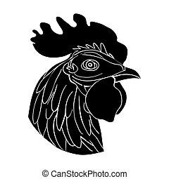 cockerel avatar - Cockerel head avatar, chinese zodiac sign...