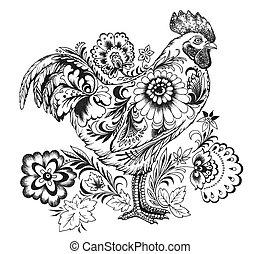 Cockerel, symbol of 2017 New Year - Cockerel ( symbol of...