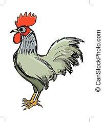cockerel symbol of sunrise