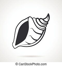 Cockleshell black vector icon