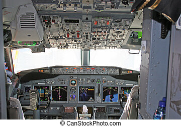 Cockpit 2 - Cockpit in modern airliner