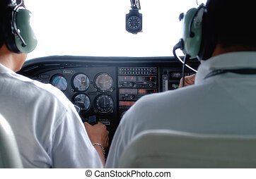 cockpit and pilots