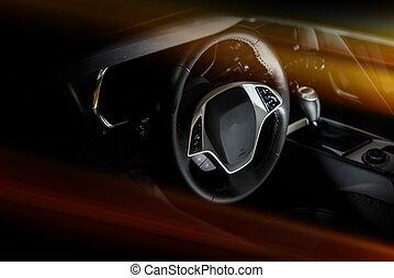 cockpit, auto, modern
