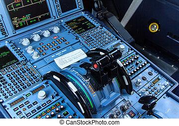 cockpit, console