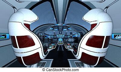 Cockpit - Image of space ship cockpit