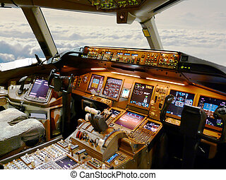 cockpit during flight