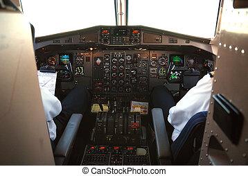 cockpit, motorflugzeug