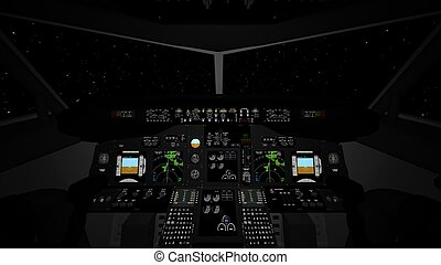 cockpit of airplane