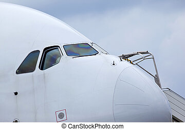 Cockpit of an airliner