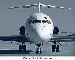 cockpit of plane