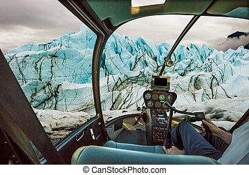Cockpit on glacier