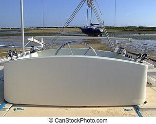 Cockpit, Rambling Rose - The cockpit of cruising catamaran,...