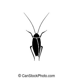 Cockroach it is black color icon .