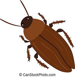 cockroach character vector design