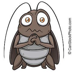 Cockroach - Vector illustration of cartoon cockroach