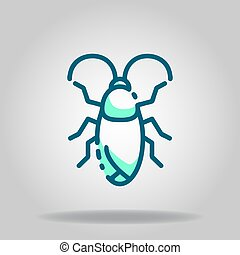 cockroach icon or logo in  twotone - Logo or symbol of ...