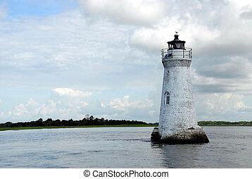 cockspur island lighthouse at Tybee Island Georgia