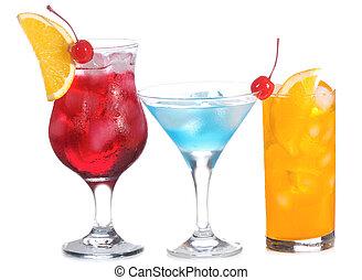 cocktail, à, fruits
