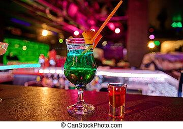 cocktail, an, bar