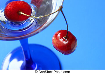 cocktail and sweet cherry