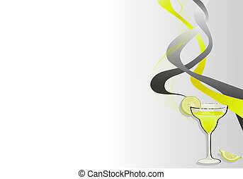 Cocktail background - Cocktail abstract background with lime...