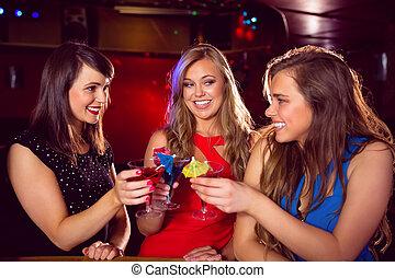 cocktail, bere, amici, carino, insieme