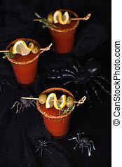cocktail Bloody Mary for a Halloween party - Michelada - ...
