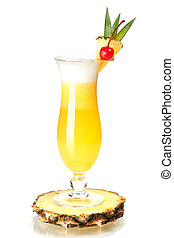 Cocktail collection: Pina Colada on pineapple slice