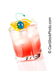 Cocktail collection: Tampico. Isolated on white background