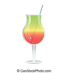 Cocktail cup with straw