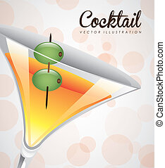 cocktail design - cocktail graphic design , vector...