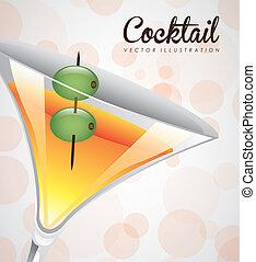 cocktail design - cocktail graphic design , vector...