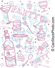 Cocktail Doodle