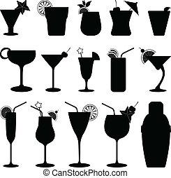 cocktail, dricka, frukt saft