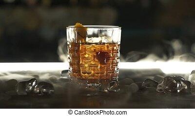 cocktail, droog, bar, ijs