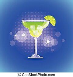 cocktail, färgrik, bakgrund, alkohol