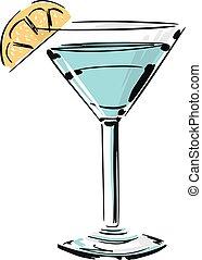Cocktail Fashion Style Illustration