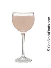 cocktail, fond, isolé, verre, blanc