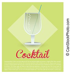 cocktail fresh drink green background