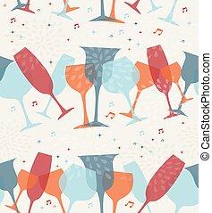 cocktail glas, seamless, fond mönstra