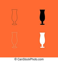 Cocktail glass icon .