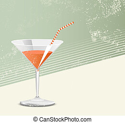 Cocktail glass - retro style