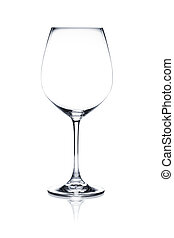Cocktail glass set. Red wine empty glass on white