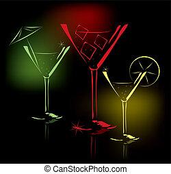 cocktail glasses - vector cocktail glasses