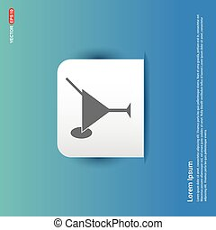 Cocktail glasses icon - Blue Sticker button