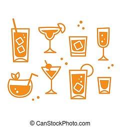 Cocktail glasses set