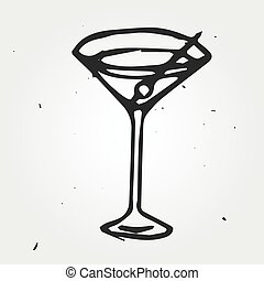 Cocktail hand drawn, abstract
