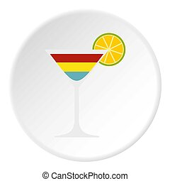 Cocktail icon circle