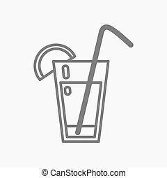 cocktail icon in thin line style.