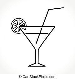 cocktail icon on white background